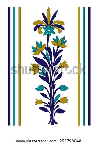 Vector flower bouquet Ornament - stock vector