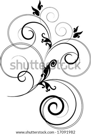 Vector Flower branch Isolated (Raster version 16953808)