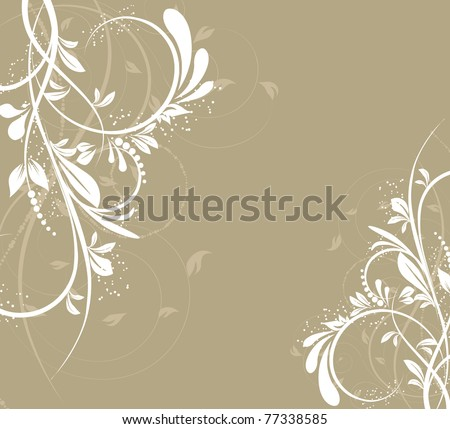 vector flower creative decorative abstract background - stock vector