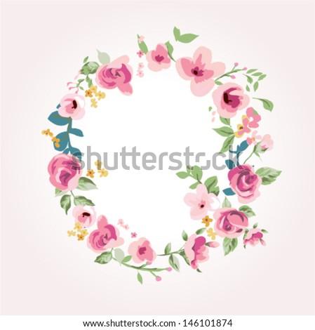 vector flower font,capital Q - stock vector