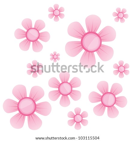 Vector flower sakura - stock vector