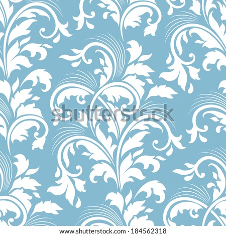 Vector flower seamless pattern element. Elegant texture for backgrounds.