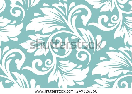 Vector flower seamless pattern element. Elegant texture for backgrounds. - stock vector