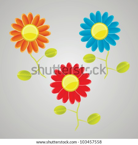 Vector flower set - stock vector