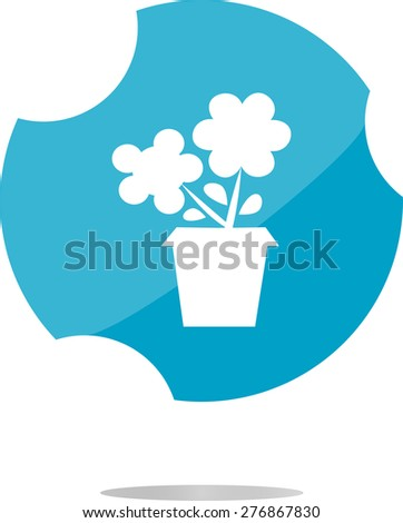 vector Flower web buttons for website or app isolated on white - stock vector