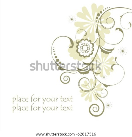 Vector flowers - stock vector