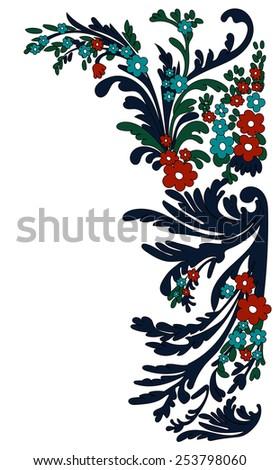 Vector flowers Corner for your design - stock vector