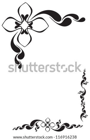 Vector flowers patterns on a white background - stock vector