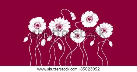 Vector flowers purple - stock vector
