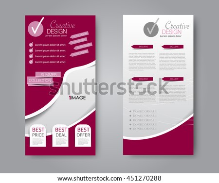 colorful brochure templates - abstract brochure designflyer design vector template stock