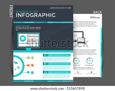 Vector Business Corporate Flyer Marketing Purpose Stock Vector