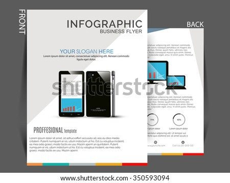 Vector flyer, brochure, magazine cover design can be used for print and publishing.