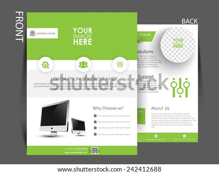 Vector flyer brochure magazine cover template can be use for Magazine cover template publisher