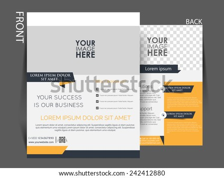 Vector Flyer, brochure, magazine cover template can be use for print and publishing.  - stock vector
