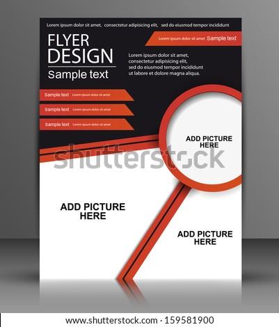 Vector Flyer Design - Business - stock vector