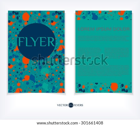 Vector flyer design template. Editable A4 business brochure layout. EPS10 abstract vector. - stock vector