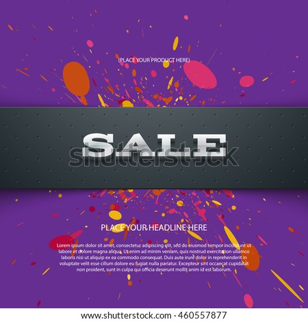 "Vector flyer or banner design template with 3d headline ""Sale"""