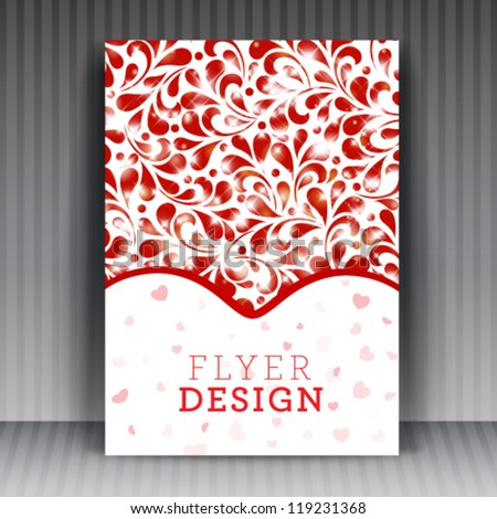 Vector flyer or cover design business. Editable illustration.