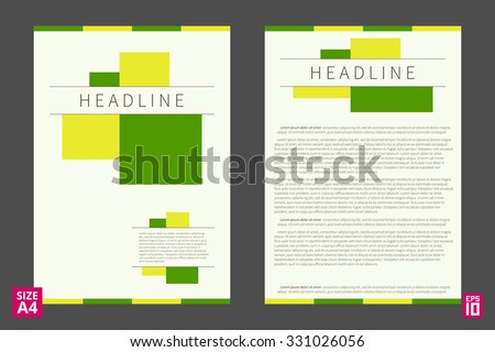 Vector Flyer Poster Leaflet Annual Report Stock Vector 331026056