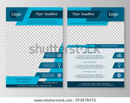 Vector Flyer Template Design Business Brochure Stock Vector Hd