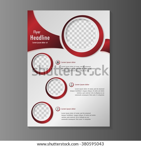 Vector Flyer Template Design Red Color Stock Vector