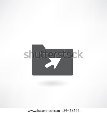Vector folder icon - stock vector