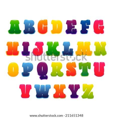 vector font - stock vector