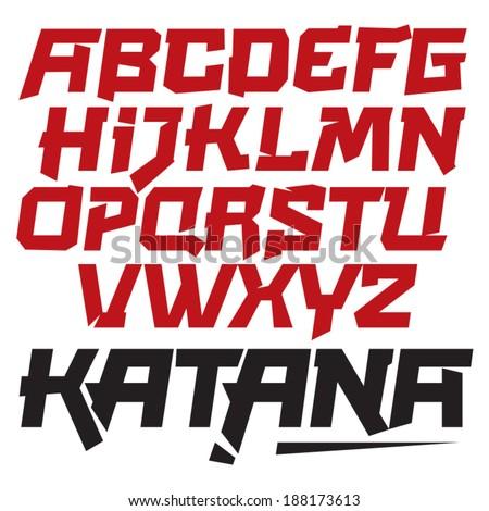 Vector Font Cool Modern Dynamic Type Asia Japan You Can Easily Tweak It