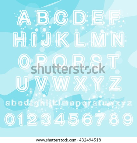 vector font Glowing Neon Bar Alphabet. Used pattern brushes included. There are fastening elements in a symbol palette.