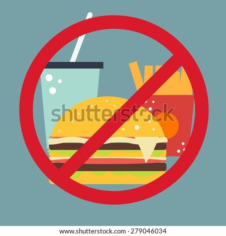 Vector food icon. No fast food.  - stock vector