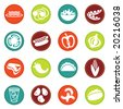 vector food icons set 8 - stock vector