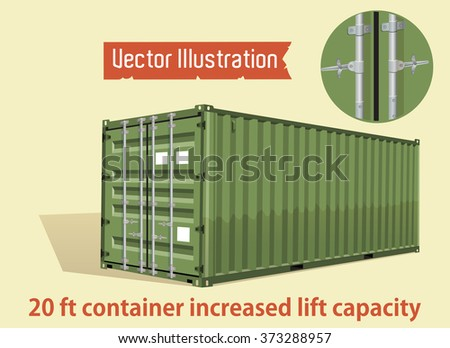 Vector 20 foot container increased lift capacity.