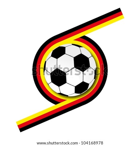 vector football and Germany flag - stock vector
