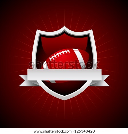 Vector Football Emblem. No transparency - stock vector