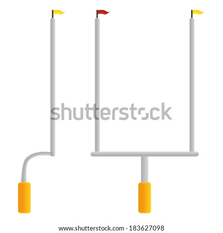 Vector Football Goal Post  Isolated On White Background - stock vector