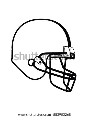 american football helmet vector illustration stock vector
