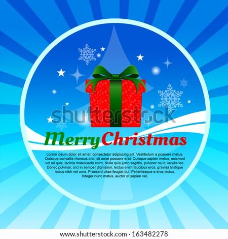 vector for present Christmas Season.  - stock vector