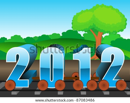 vector for upcoming new year 2012 - stock vector