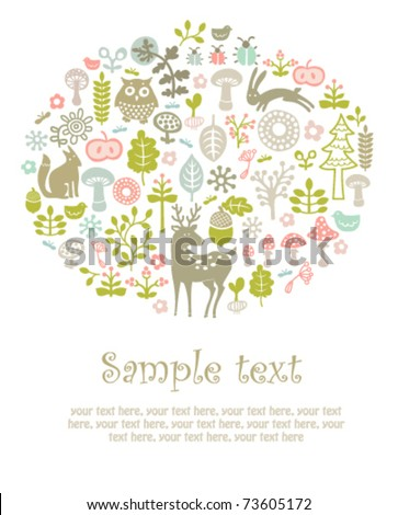 vector forest card