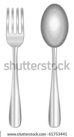 vector fork and spoon