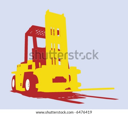 vector fork isolated heavy machine - stock vector