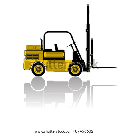 vector forklift - stock vector