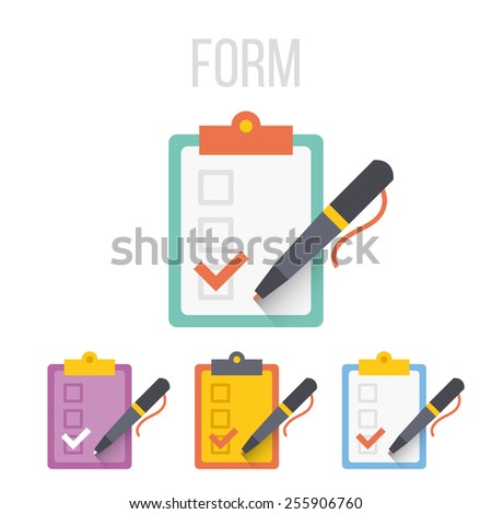 Vector form icons set. Isolated on white background. - stock vector