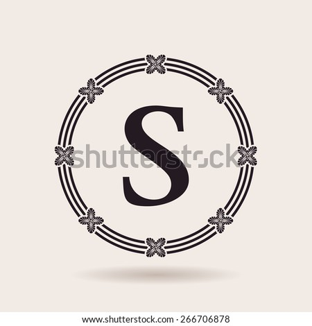 Vector frame design emblem. Vintage labels and badges for logo quality - stock vector