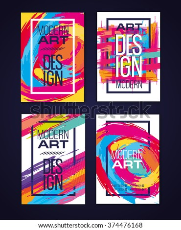 Vector frame for text and labels in the style of Modern Art graphic for hipsters background paint - stock vector
