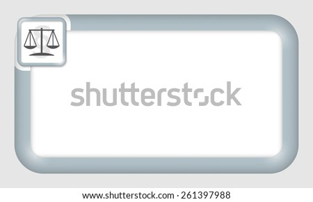 vector frame for your text and law symbol - stock vector