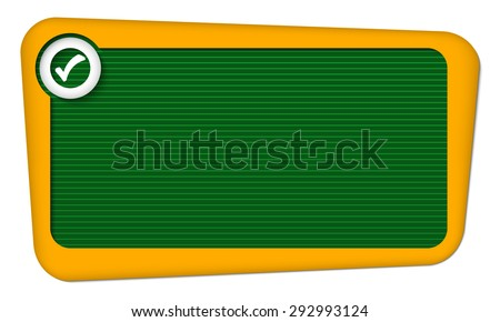 Vector frame for your text with lines and check box - stock vector