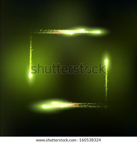 Vector frame formed by lights and sparkles. Vector illustration eps 10 - stock vector