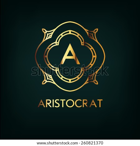 Vector Frame. Geometric Luxury Vintage Line Design Style for Hipster Art. Art Deco Monogram and Emblem Elements. Copy Space for Text. - stock vector