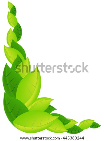 Vector Frame Organic Eco Leaf. Environment Protection. Pure Natural Product. Simple design for a card on summer, environment, conservation. - stock vector
